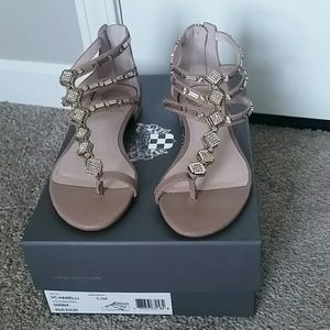 Vince Camuto pink jeweled sandals